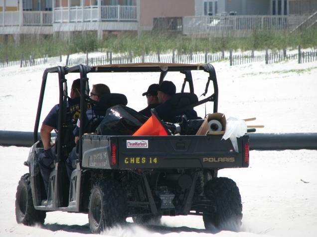Clean-up workers in Orange Beach, Al